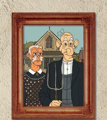 "Front cover of ""Kammena Vourla"" comic album"